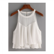 BLUSA TRANSPARENT WHITE
